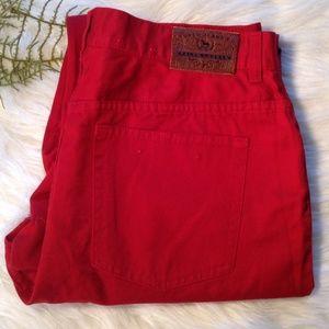 Ralph Lauren Red Jean Capris Size 12 NWOT